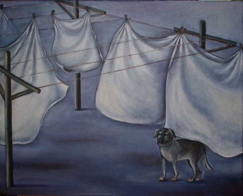 """The playground of the dogs 4 - 30"""" x 24"""""""