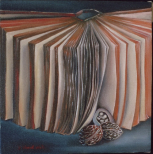 """Book with nuts - 12""""x 12"""" pc"""