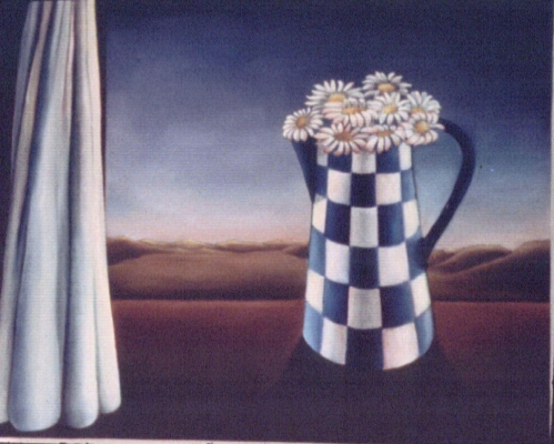 "Daisies in grandmothers milk jug 14""x20"" Private Collection"